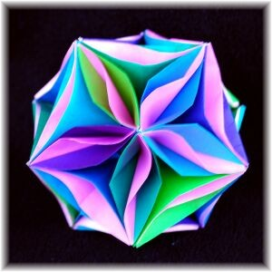 Icosahedron with Curves and Waves