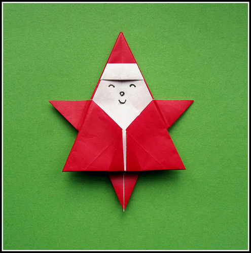 Star-shaped Santa Claus